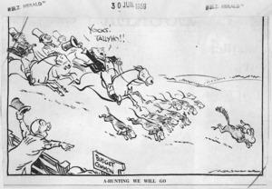 Minhinnick, Gordon (Sir), 1902-1992 :A-Hunting we will go. 30 June 1959.