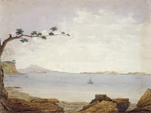 Gold, Charles Emilius 1809-1871 :Howick Beach, N. Z. 1860.