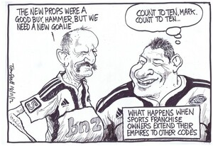Scott, Thomas, 1947- :'The new props were a good buy Hammer, but we need a new goalie.' 14 November 2012