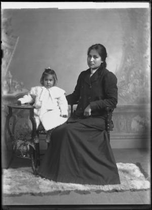 Portrait of Mrs Pataka and child