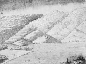 [Bates, Henry Stratton] 1836-1918 :Ngaruawahia [from a small hill about 1 1/2 miles in its rear on the road to Rangiaowhia... 1860?]