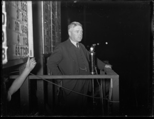 Walter Nash on the 1935 general election night