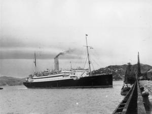 The ship Atlantis in Wellington Harbour