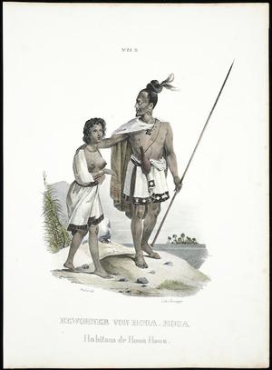 Sainson, Louis Auguste de, b. 1801 (after) :Bewohner von Houa-Houa; habitans de Houa-Houa. No. 28 B. Hassler del.; lith v Honegger [Zurich, 1840]