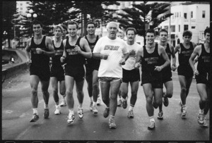 Sir Paul Reeves and Wellington College Old Boys on fund raising run