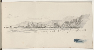 Gully, John, 1819-1888 :Going out Wellington Heads [1860-1880s].