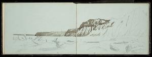 [Lysaght, Mary Grace Caroline], 1850?-1935 :Mokoia Beach after great flood in Tongahoe. [1880-1920]