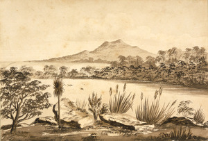 Hoyte, John Barr Clark, 1835-1913 :Lake Takapuna, North Shore, from Dr Fischer's [1860?]