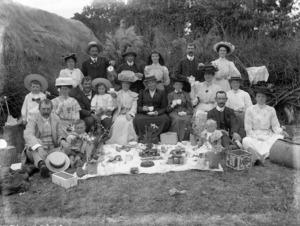 Group at a picnic