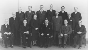Frank Thompson of Crown Studios (Photographer) : New Zealand National Party, Prime Minister and Cabinet, 1951