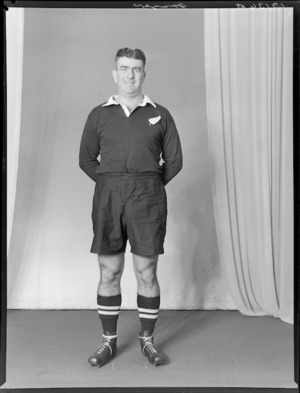 H Frazer, member of the All Blacks, New Zealand representative rugby union team