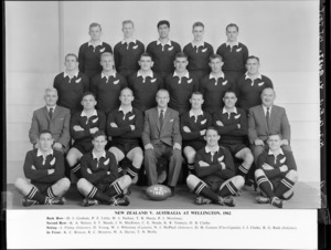 All Blacks, New Zealand representative rugby union team, vs Australia, first test, Wellington, 1962