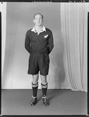 R R Elvidge, member of the All Blacks, New Zealand representative rugby union team