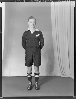 L T Savage, member of the All Blacks, New Zealand representative rugby union team