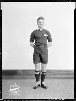 N P McGregor, member of the All Blacks, New Zealand representative rugby union team, tour of South Africa, 1928