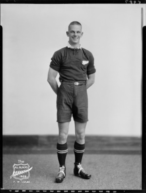 F W Lucas, member of the All Blacks, New Zealand representative rugby union team, tour of South Africa, 1928