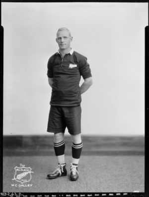 W C Dalley, member of the All Blacks, New Zealand representative rugby union team, tour of South Africa, 1928