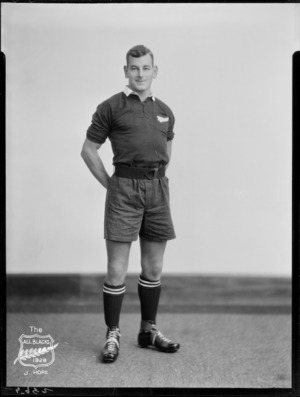 J Hore, member of the All Blacks, New Zealand representative rugby union team, tour of South Africa, 1928
