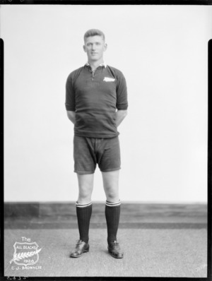 C J Brownlie, member of the All Blacks, New Zealand representative rugby union team, tour of South Africa, 1928