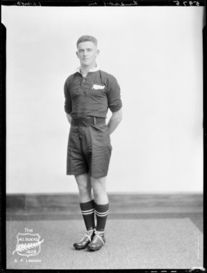 D F Lindsay, member of the All Blacks, New Zealand representative rugby union team, tour of South Africa, 1928