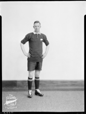 M F Nicholls, Vice Captain of the All Blacks, New Zealand representative rugby union team, tour of South Africa, 1928