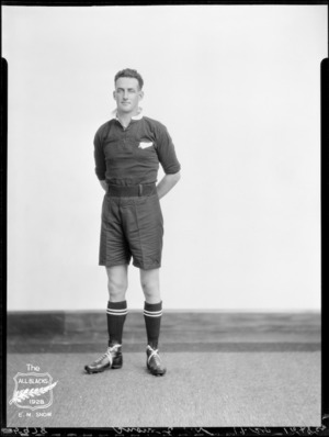 E N Snow, member of the All Blacks, New Zealand representative rugby union team, tour of South Africa, 1928