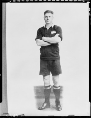 M J Brownlie, Captain of the All Blacks, New Zealand representative rugby team to South Africa, 1928