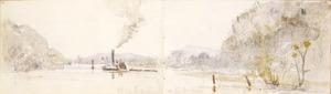 Williams, Edward Arthur, 1824-1898 :Taupiri on the Waikato. 13/3/64