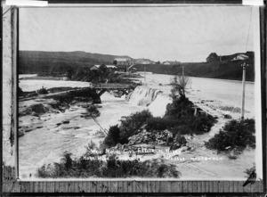 Waihi Mining company's hydro-electric works at Horahora - Photograph taken by Edward John Wilkinson