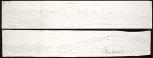 Haast, Johann Franz Julius von, 1822-1887: Part of old terminal moraine. From Mt Torlesse. Lake Taylor. 6 April 1865.