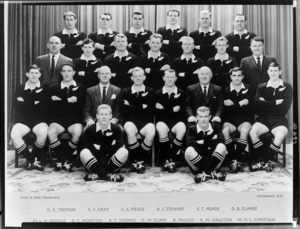 All Blacks, New Zealand representative rugby union team - Photograph taken by Green and Hahn