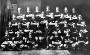 Group photograph of the All Blacks rugby football team for 1924 - Photograph taken by S P Andrew