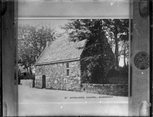 Copy of a photograph by W B & Sons of Saint Appolines small medieval Chapel built 1392 on Guernsey Island, taken during Williams' European trip