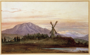 Chamier, George, 1842-1915 :Leithfield, New Zealand by George Chamier [1865?]