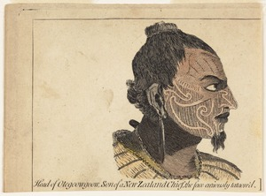[Parkinson, Sydney] 1745-1771 :Head of Otegoowgoow, son of a New Zealand chief, the face curiously tataow'd [1790]