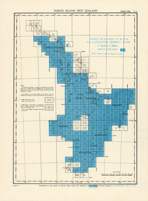 Index to N.Z.M.S. 177 & 177A N.Z. cadastral series 1:63,360 (1 inch to 1 mile). North Island New Zealand [electronic resource].