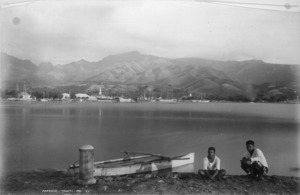 Papeete and harbour, Tahiti - Photograph taken by George Dobson Valentine