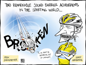 Smith, Hayden James, 1976- :Two remarkable sound barrier achievements in the sporting world... 16 October 2012
