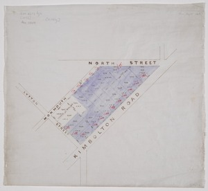 [Creator unknown] :[A block of town sections, Feilding] [ms map]. [1893].