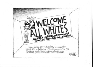 Suddenly WELCOME TO THE ALL WHITES. 9 June 2010
