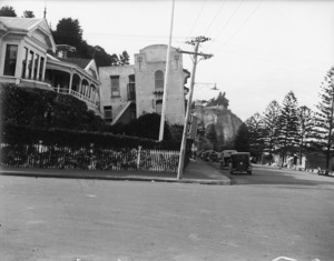 Scene after the 1931 Hawke's Bay earthquake showing the damage to Dr Moore's Hospital