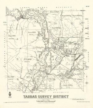 Tarras Survey District in the Vincent County [electronic resource].