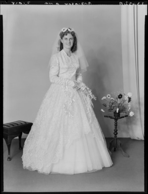 Unidentified bride, probably Robinson family wedding