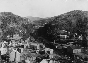 View of the mining settlement of Burnetts Face