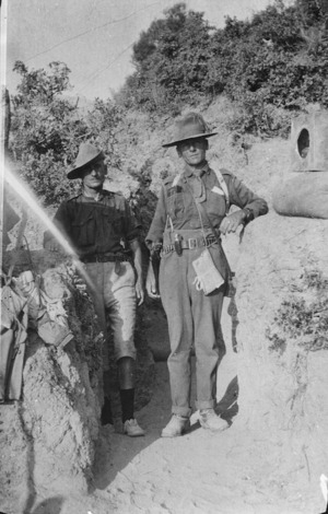 Major Wilson and Major Midgeley, Gallipoli, Turkey