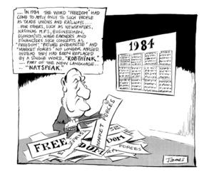 """Lynch, James Robert, 1947- :'... In 1984 the word """"freedom"""" had come to apply only to such people as trade unions and railways...' 1 January 1984"""