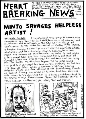 Doyle, Martin, 1956- :[Minto savages artist]. 31 May 2013