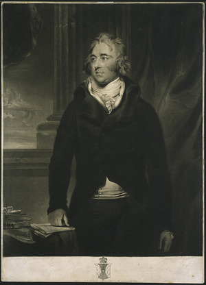 Lawrence, Thomas 1769-1830 :The Right Honble. Lord Hobart. Engraved by J. Grozer; painted by T. Lawrence. London 1796