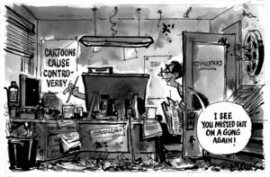 Evans, Malcolm Paul, 1945- :[Cartoons controversy]. 2 June 2013