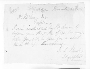 Minister of Colonial Defence - Inward telegrams